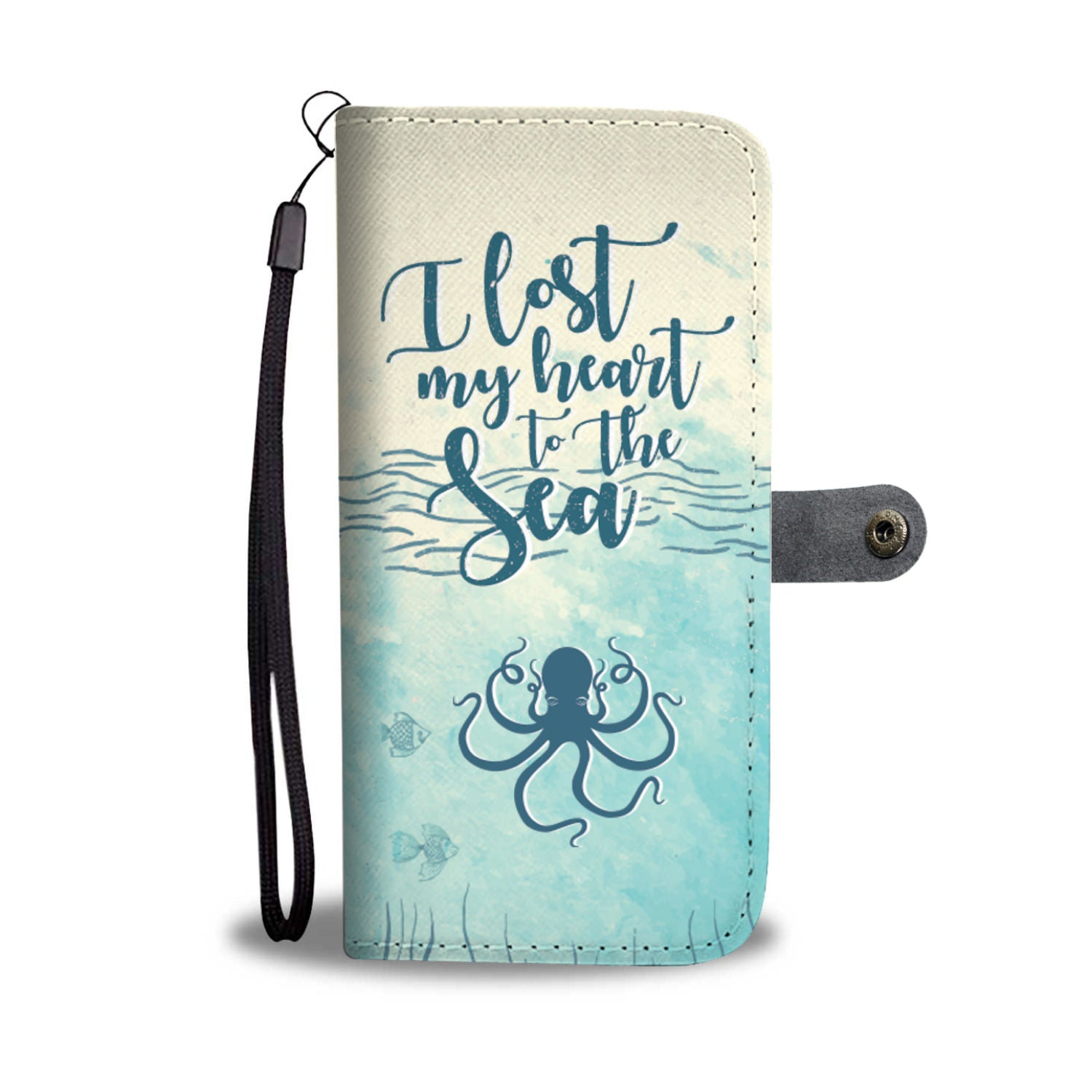 I Lost My Heart To The Sea Wallet Phone Case