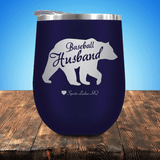Baseball Husband Bear Stemless Wine Cup
