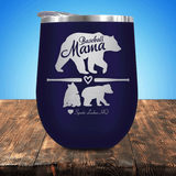 Baseball Mama Bear 2 Cubs Stemless Wine Cup