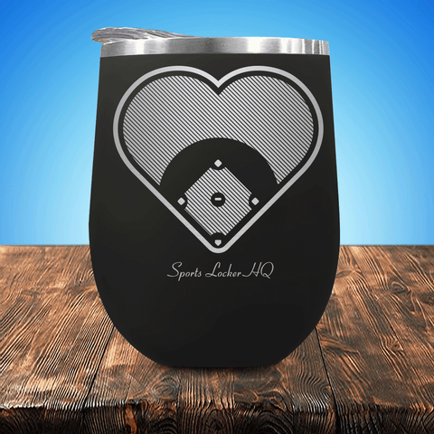 Baseball Field Of Heart Stemless Wine Cup