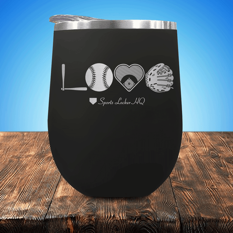 Baseball/Softball LOVE V2 Stemless Wine Cup