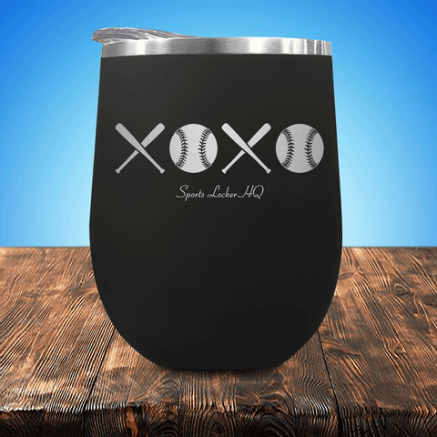 Baseball/Softball XOXO Stemless Wine Cup