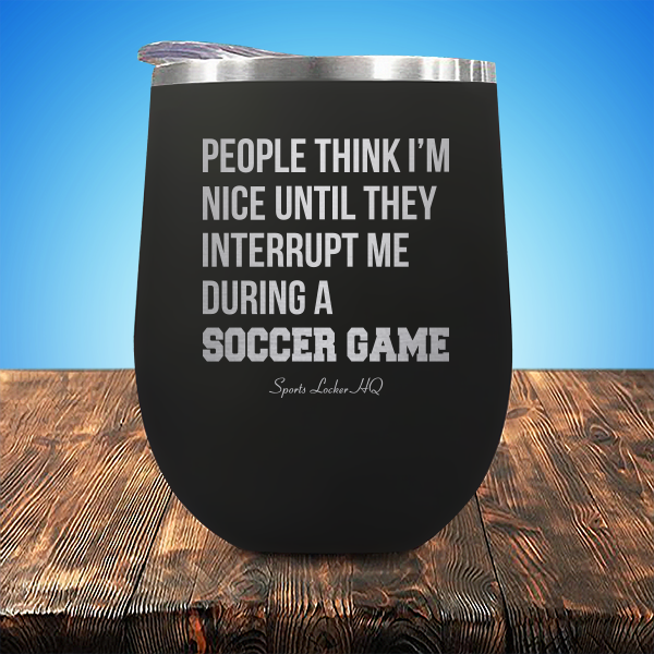 A Soccer Game Stemless Wine Cup JA933