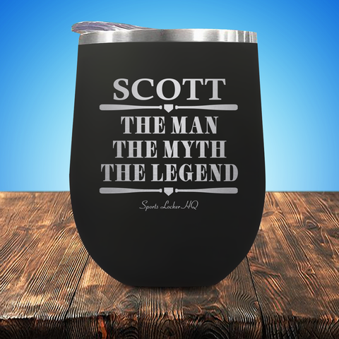 Scott The Man The Myth The Legend Baseball/Softball Stemless Wine Cup