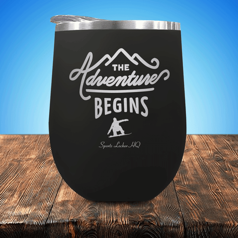 Snowboarding Adventure Begins Stemless Wine Cup