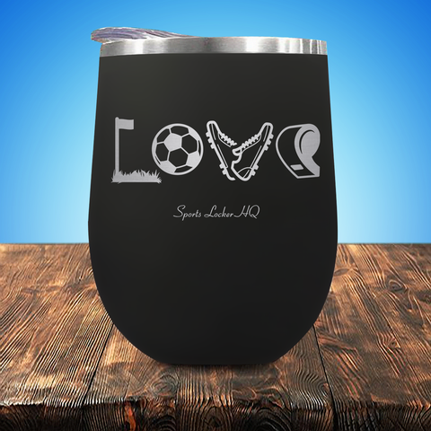 Soccer LOVE Stemless Wine Cup