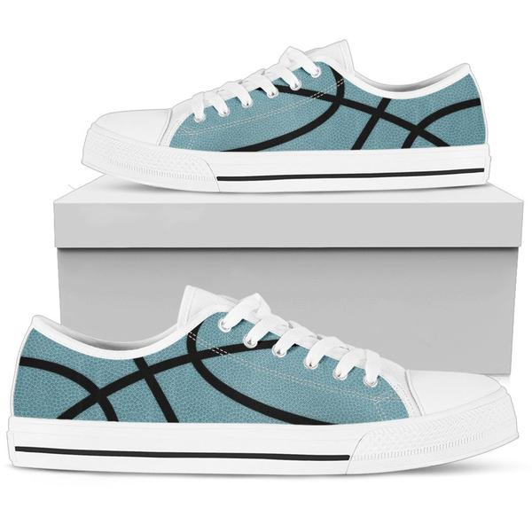Basketball Light Blue Premium Low Top Shoes