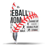 Baseball Mom Premium Hooded Blanket JAHB1008