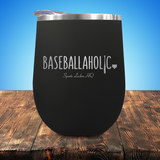 Baseballaholic Stemless Wine Cup