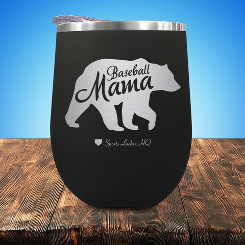 Baseball Mama Bear Stemless Wine Cup