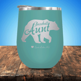 Baseball Aunt Bear Stemless Wine Cup