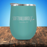 Softballaholic Stemless Wine Cup
