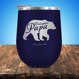 Volleyball Papa Bear Stemless Wine Cup