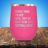A Softball Game Stemless Wine Cup JA925