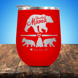Baseball Mama Bear 3 Cubs Stemless Wine Cup