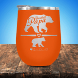 Baseball Papa Bear 1 Cub Stemless Wine Cup