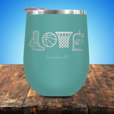 Basketball LOVE Stemless Wine Cup