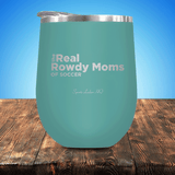 The Real Rowdy Moms Of Soccer Stemless Wine Cup