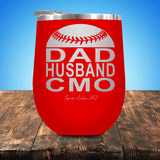 Baseball/Softball Dad Husband CMO Stemless Wine Cup