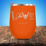 Football LOVE Stemless Wine Cup