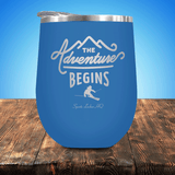 Skiing Adventure Begins Stemless Wine Cup