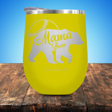 Baseball Mama Bear V2 Stemless Wine Cup