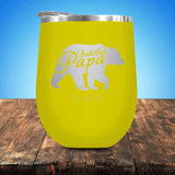 Basketball Papa Bear Stemless Wine Cup