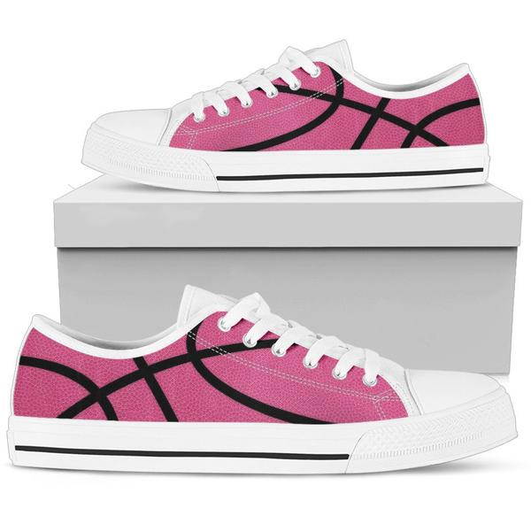 Basketball Hot Pink Premium Low Top Shoes