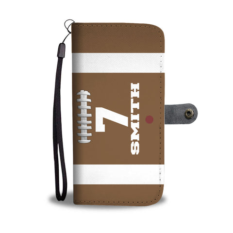Football Original Player #/Name (CUSTOM) Wallet Phone Case