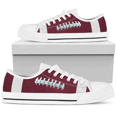 Football Maroon Premium Low Top Shoes