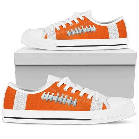 Football Orange Premium Low Top Shoes
