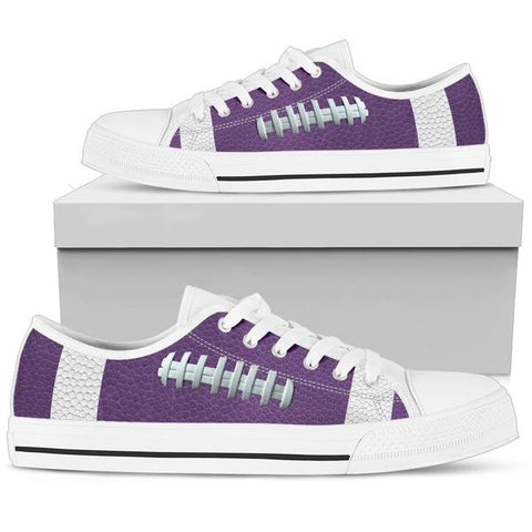 Football Purple Premium Low Top Shoes