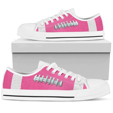 Football Hot Pink Premium Low Top Shoes