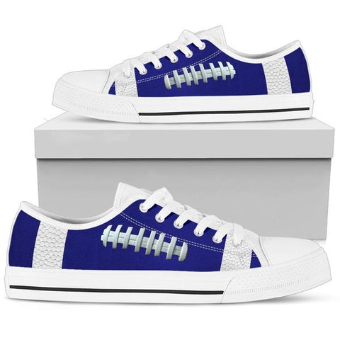 Football Navy Blue Premium Low Top Shoes