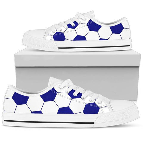 Soccer Navy Blue Premium Low Top Shoes