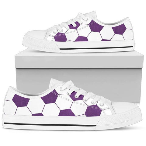 Soccer Purple Premium Low Top Shoes