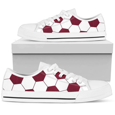 Soccer Maroon Premium Low Top Shoes