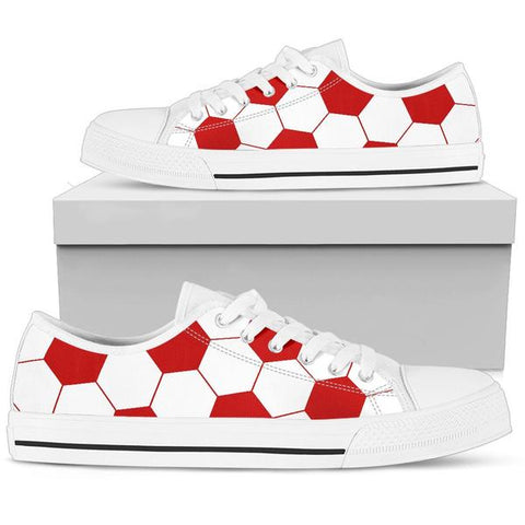 Soccer Red Premium Low Top Shoes