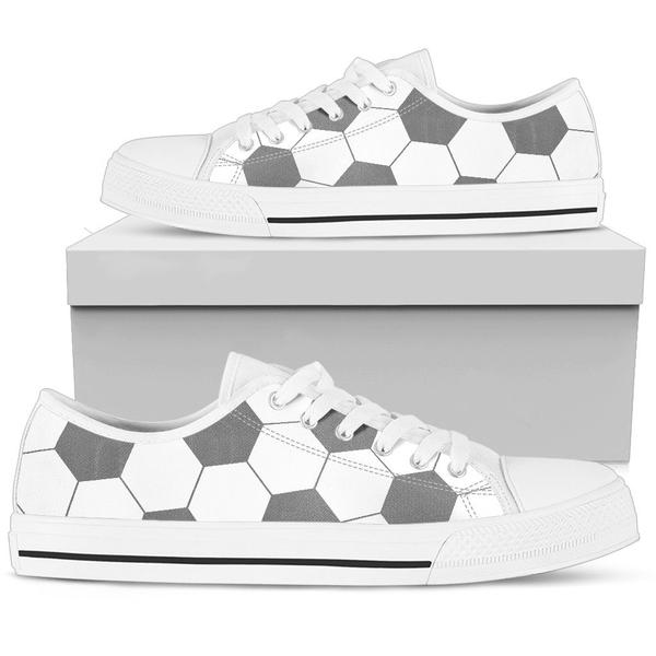 Soccer Gray Premium Low Top Shoes