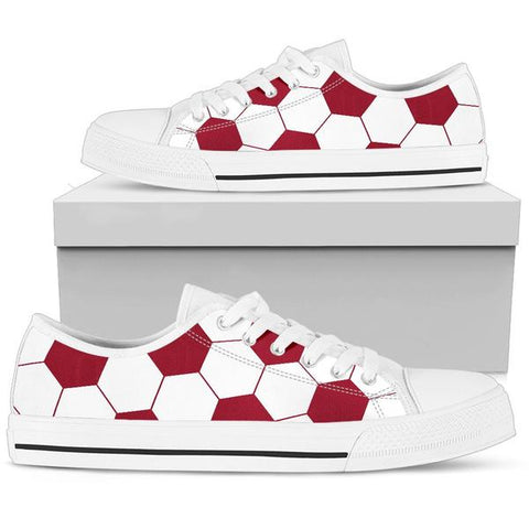 Soccer Burgundy Premium Low Top Shoes