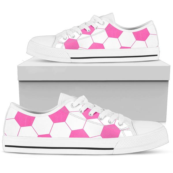 Soccer Hot Pink Premium Low Top Shoes