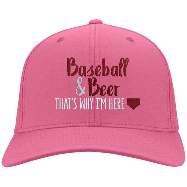 Baseball & Beer That's Why I'm Here Cotton Twill Hat