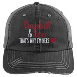 Baseball & Beer That's Why I'm Here Trucker Hat