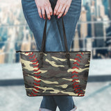Baseball Camo Leather Handbag