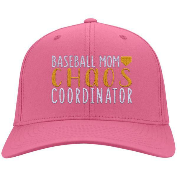 Baseball Mom Chaos Coordinator Cotton Twill Hat