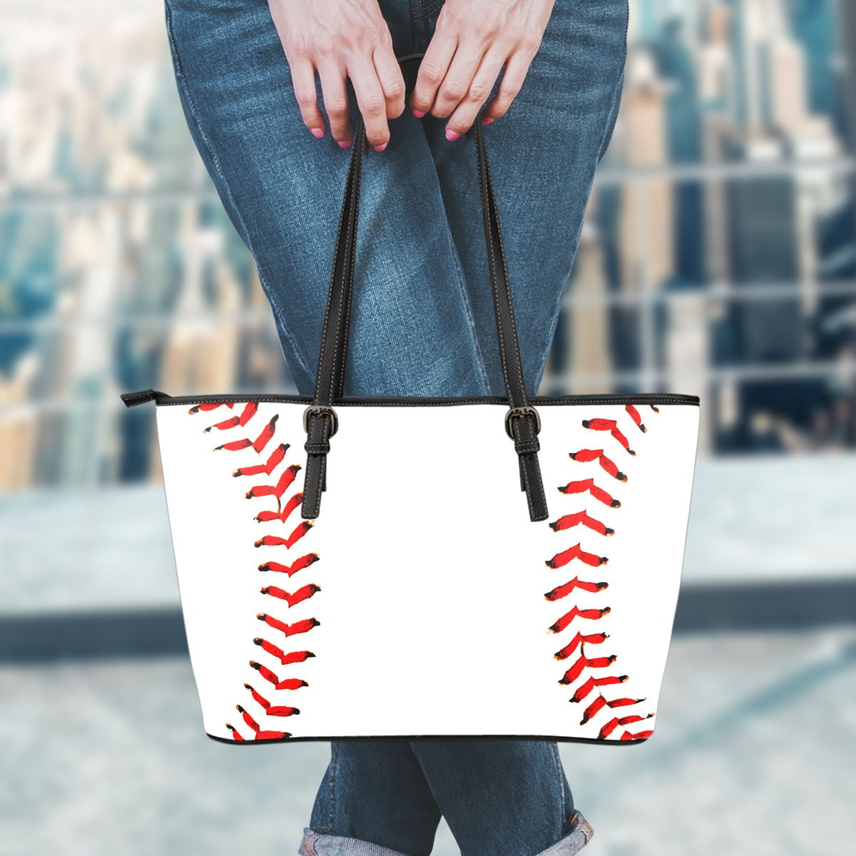 Premium Baseball Leather Handbag