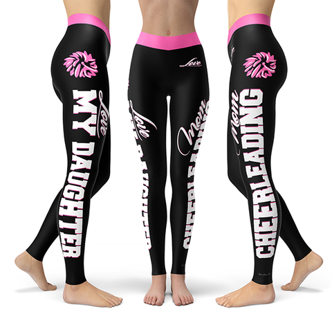 Cheerleading Mom Love My Daughter Premium Leggings JA1102