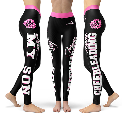 Cheerleading Mom Love My Son Premium Leggings JA1101
