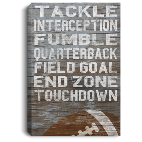 Football Tackle Interception Fumble Canvas Wall Art SACA482