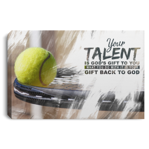 God's Gift Tennis Ball Canvas Wall Art ALCA226